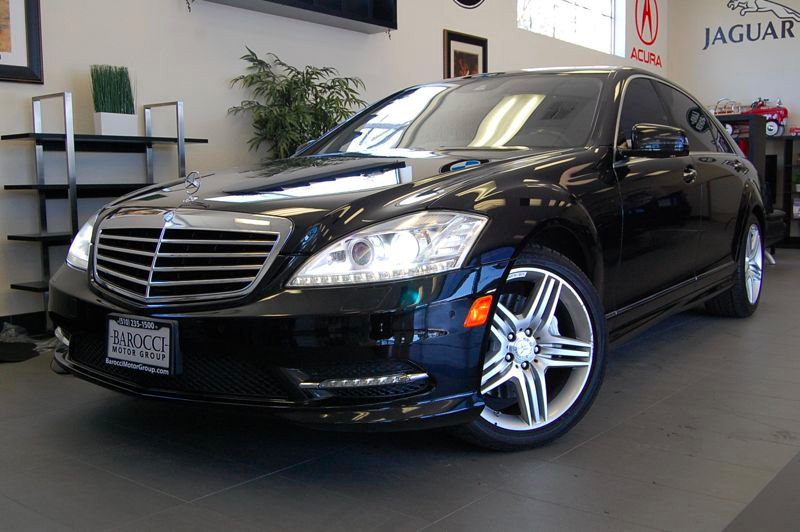 2011 MERCEDES S-Class S550 Sedan 4D Auto 7-Spd Touch Shift Black Black Amazing shape with rear p