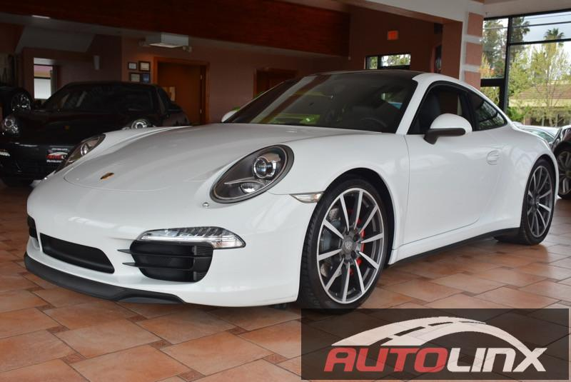 2013 Porsche 911 Carrera 4S 7-Speed Manual White Black Bluetooth Hands-Free Portable Audio Co