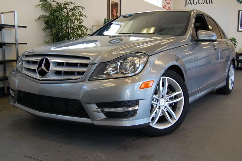 2012 MERCEDES C-Class C250 Sport 4dr Sedan 7 Speed Auto Silver Black Very nice shape inside and