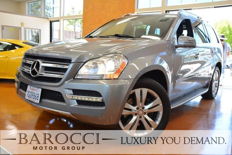 2012 MERCEDES GL-Class GL450 AWD 4MATIC 4dr SUV 7 Speed Auto Silver Charcoal California owned w