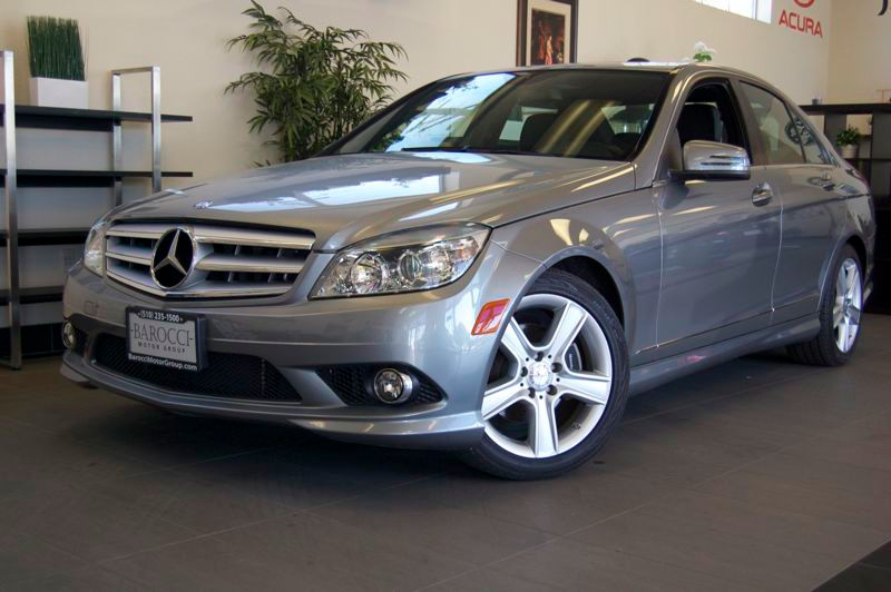 2010 MERCEDES C-Class C300 4dr Sedan Auto 7-Spd Touch Shift Silver Black Beautiful C300 with pre