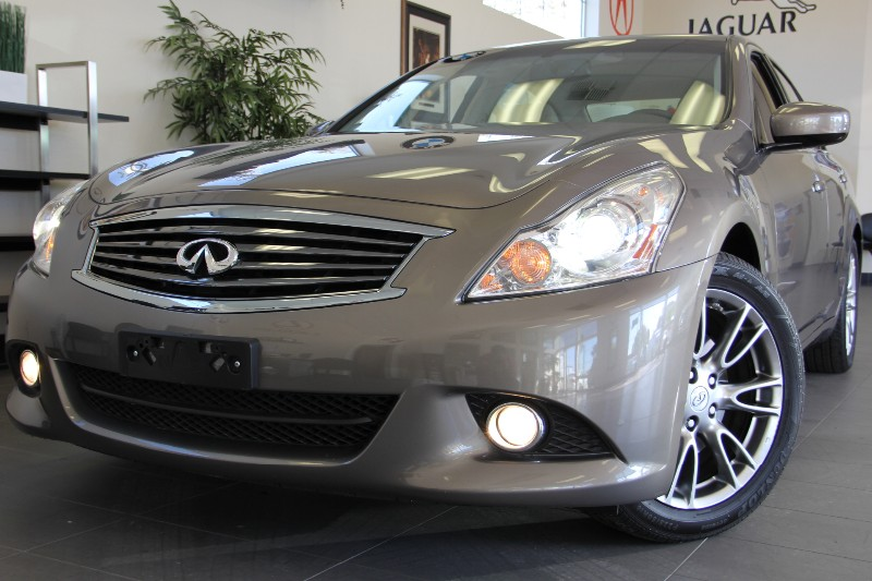 2011 Infiniti G37 Sedan-Navigation Journey 4dr Sedan 7 Speed Auto Brown Tan GPS Navigation Park