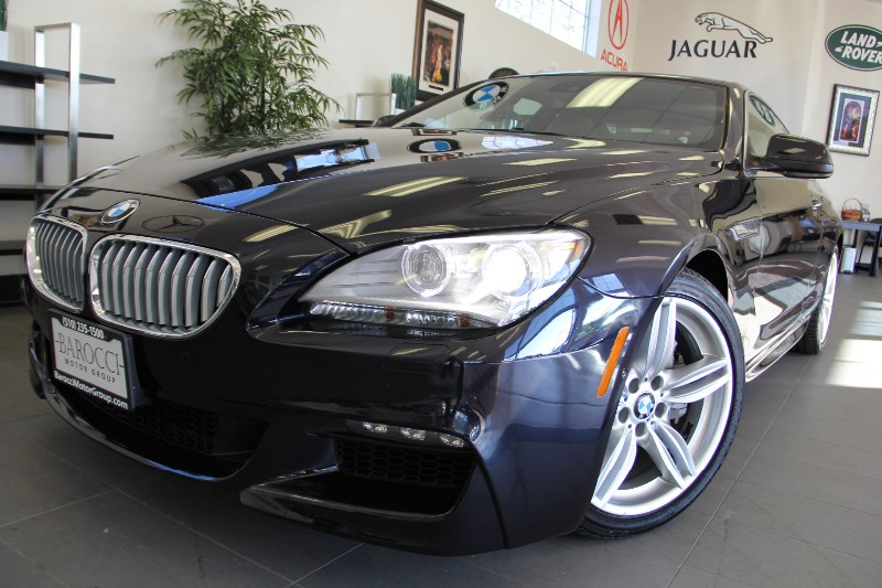 2012 BMW 6 Series-M-Pkg 650i 2dr Coupe Automatic Blue Brown Gorgeous 1 Owner Car Perfect combin