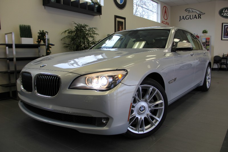 2012 BMW 7 Series 750Li 4dr Luxury Head-up Disp Automatic Silver Tan Incredible one owner leas