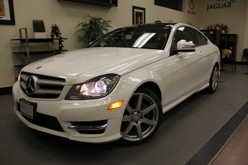2013 MERCEDES C-Class C250 CoupeNaviback up camera Automatic White Tan This beautiful One Own