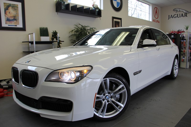 2012 BMW 7 Series 750LI -M PKG-SPORT 6 Speed Auto White Tan Incredible one owner lease return th