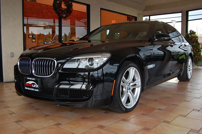 2013 BMW 7-Series 750Li 6-Speed Automatic Black Black NEW BRAKES   and Navigation M Sport Pack