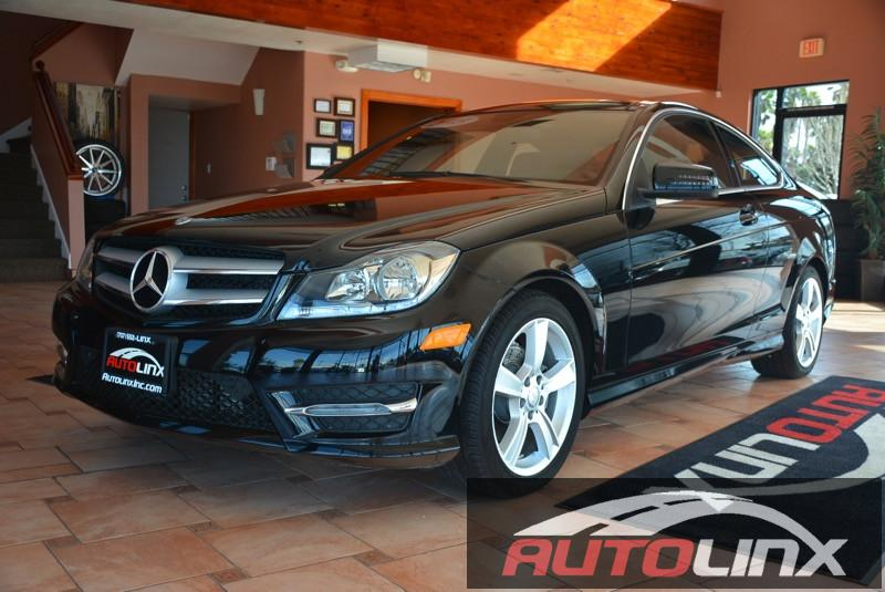 2013 MERCEDES C-Class C250 Coupe 7-Speed Automatic Black Black Sunroof Leather Seats Accident