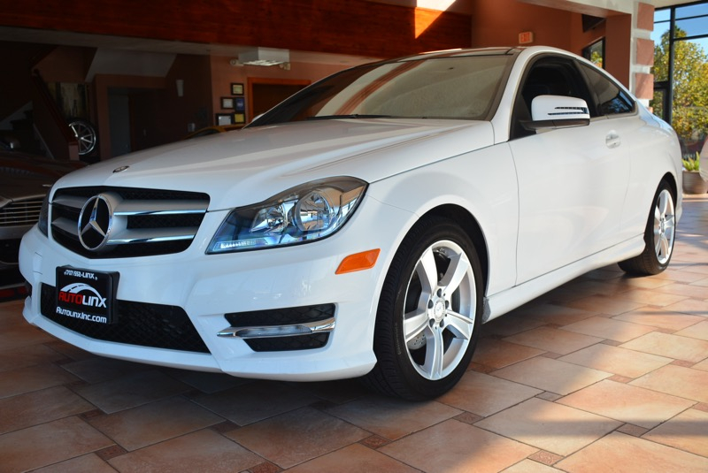 2013 MERCEDES C-Class C250 Coupe 7-Speed Automatic White Black Turbo Right car Right price I
