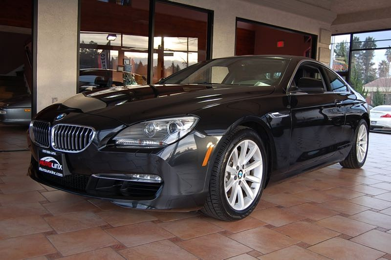 2012 BMW 6-Series 640i Coupe 8-Speed Automatic Black Black Navigation Accident free Carfax His