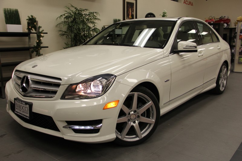 2012 MERCEDES C-Class C250 4dr Sport Package Automatic White Tan Why buy brand new when you can