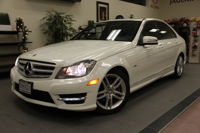 2012 MERCEDES C-Class C250 Luxury Sedan Bluetooth Automatic White Tan Why buy brand new when yo