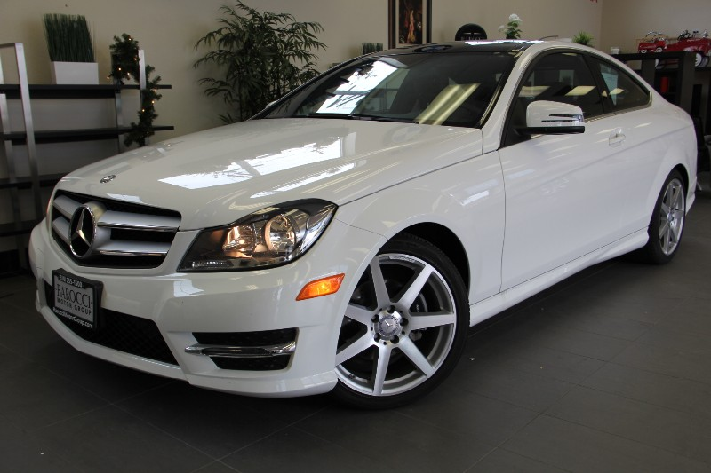 2013 MERCEDES C-Class C250 Coupe Low Miles Red Int Automatic White Red This beautiful One Owne