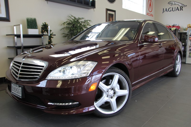 2013 MERCEDES S-Class S550 4dr Sedan SPORT PACKAGE Automatic Maroon Tan Beautiful S Class with