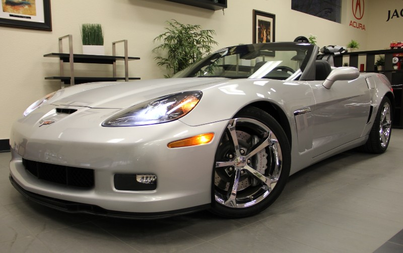 2011 Chevrolet Corvette Z16 Grand Sport Convertible 6 Speed Man Silver Black Under Factory Warr
