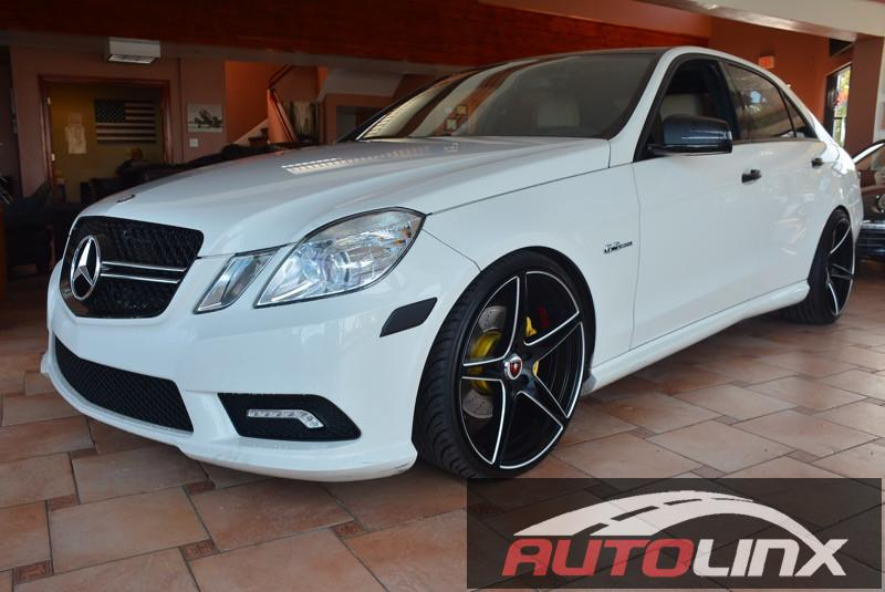 2011 MERCEDES E350 4MATIC Sport AWD  4dr Sedan 7 Speed Auto White TAN Bluetooth Hands-Free Po