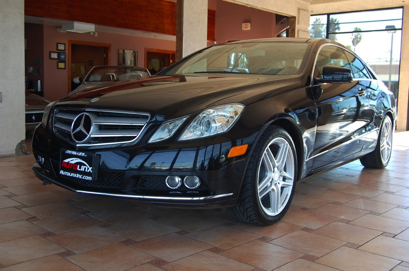 2011 MERCEDES E-Class E350 Coupe 7-Speed Automatic Black Tan In a class by itself At AutoLinx