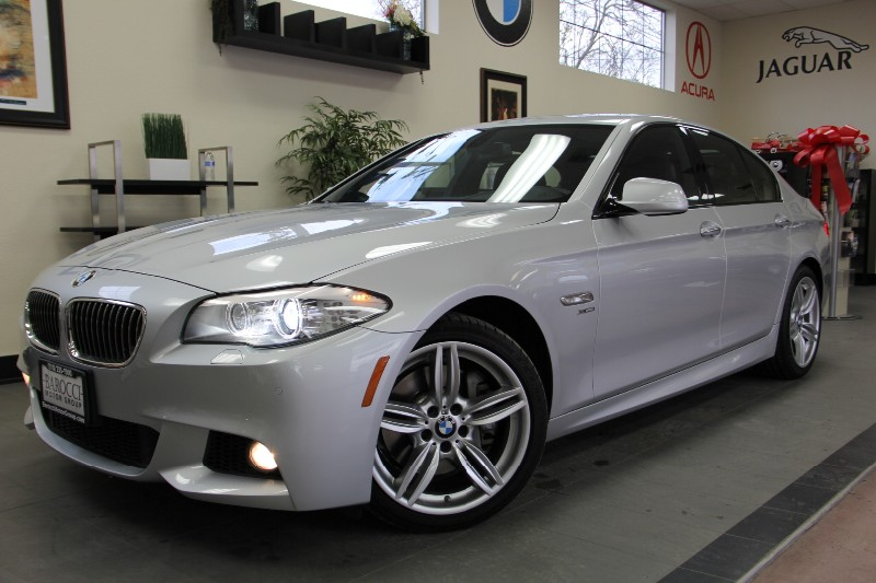 2012 BMW 5 Series 535i xDrive AWD 4dr Sedan Automatic Silver Black Comes with the All Wheel Driv