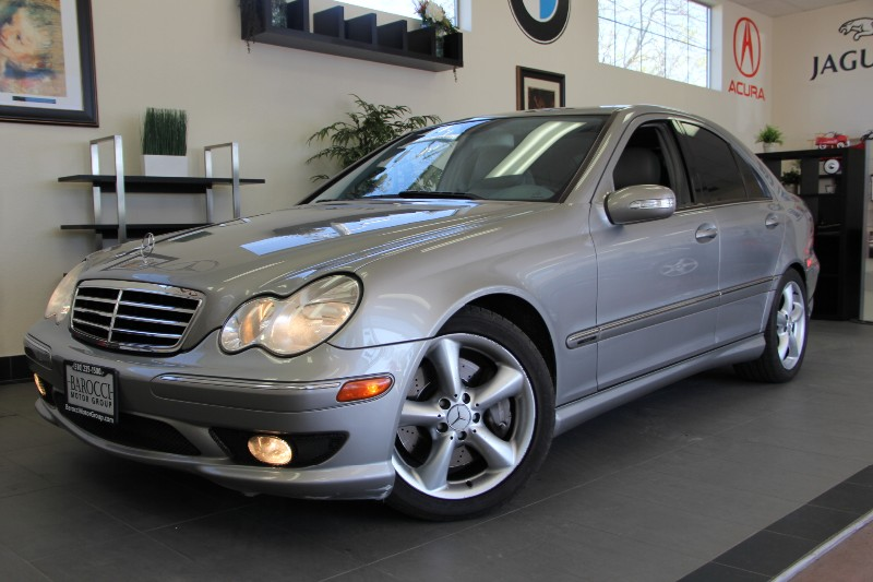 2006 MERCEDES C-Class C230 Sport 4dr Sedan Automatic Gray White Fantastic C Class with Sunroof
