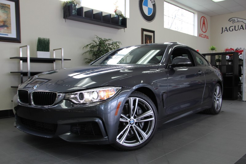2014 BMW 4 Series 435i 2dr Coupe M-Sport Package Automatic Gray Black This is a beautiful vehicl