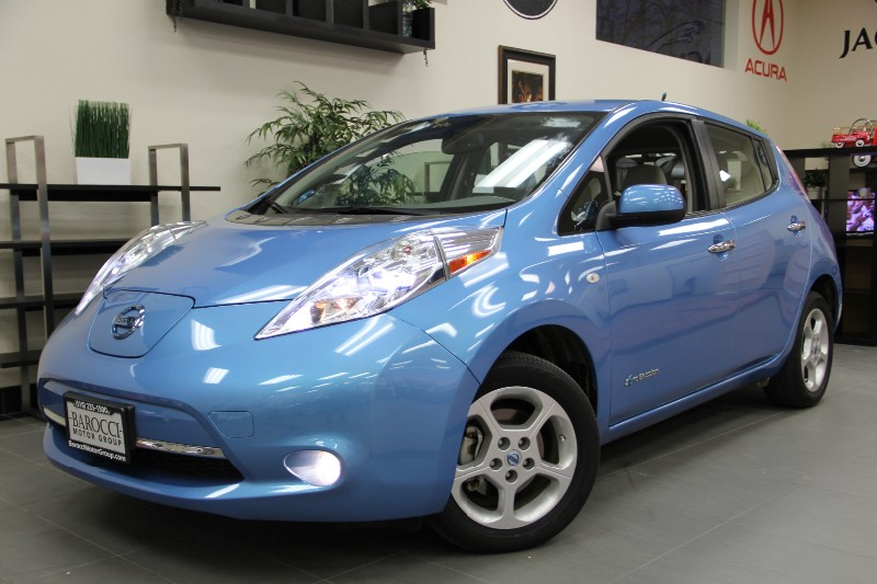 2012 Nissan LEAF SV 4dr Hatchback Continuously Variable Transmission Blue Tan This one owner ve