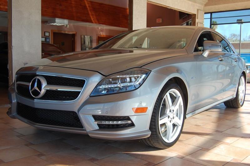 2012 MERCEDES CLS550 Sport 4dr Sedan 7 Speed Auto Silver Black Navigation Silver Bullet Thank