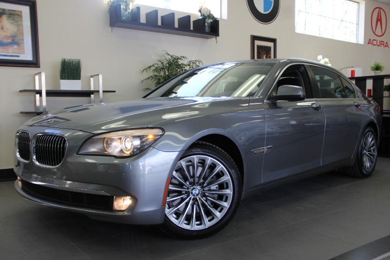 2012 BMW 7 Series 740Li 4dr Sedan Automatic Gray Black Active Suspension Nav Tech Package Pr