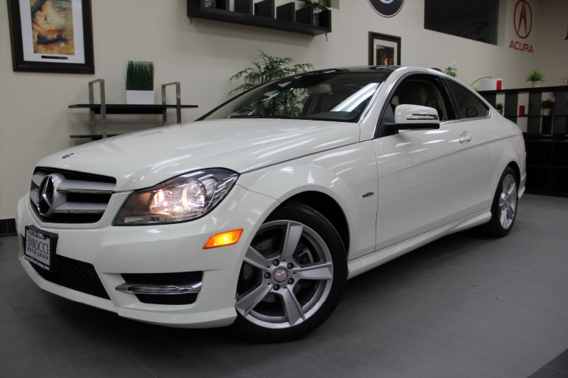 2012 MERCEDES C-Class C250 2dr Coupe Panoramic Roof Automatic White Tan This beautiful One Owne