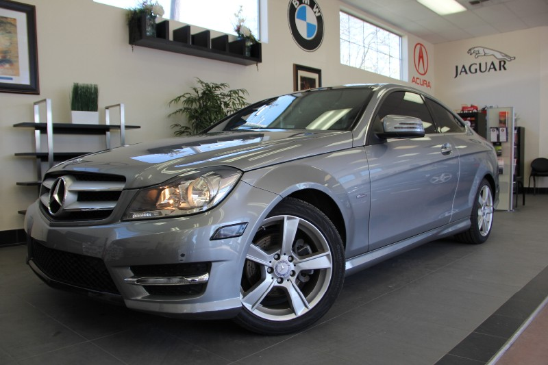 2012 MERCEDES C-Class C250 2dr Coupe Camera Bluetoo Automatic Silver Black Navigation Panoram