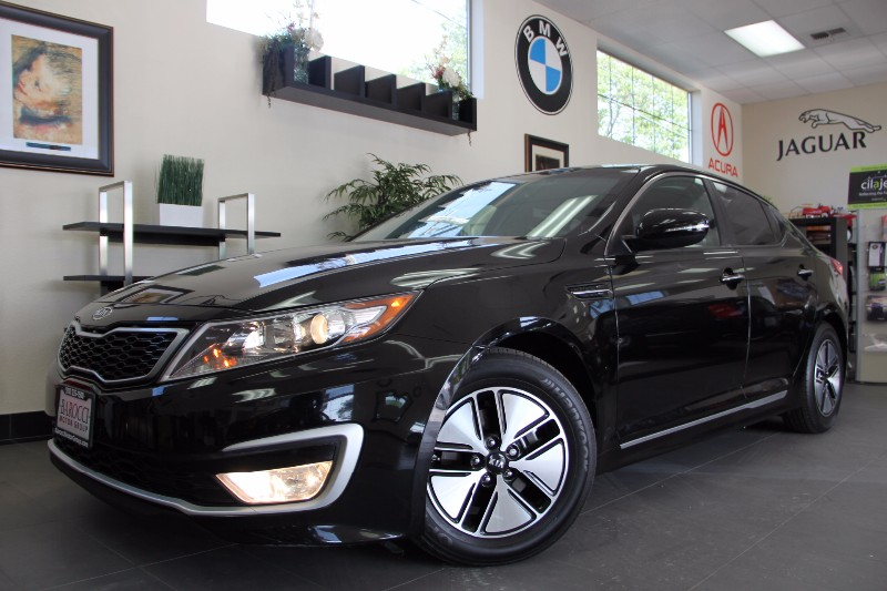 2012 Kia Optima Hybrid LX 4dr Sedan Automatic Black Gray Beautiful KIA with so many options inc