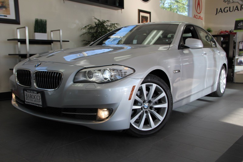 2012 BMW 5 Series 528i 4dr Sedan Automatic Silver Gray Includes Sport Package Navigation Rear