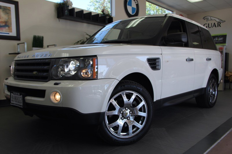 2009 Land Rover Range Rover Sport HSE SUV 4dr 4X4 w Luxury Pac 6 Speed Auto White Black Comes