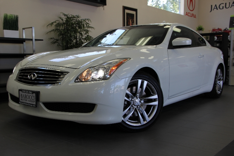 2008 Infiniti G37 Journey Coupe RWD 5 Speed Auto White ABS Air Conditioning Alarm Alloy Wheel
