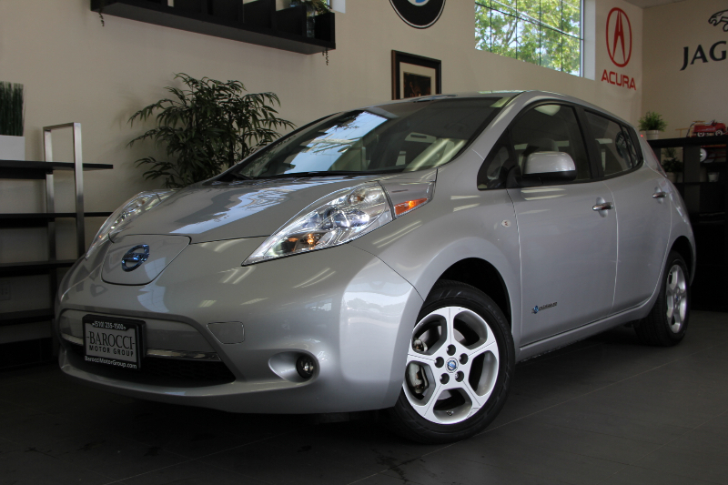 2012 Nissan LEAF SL 4dr Hatchback Continuously Variable Transmission Gray Child Safety Door Lock