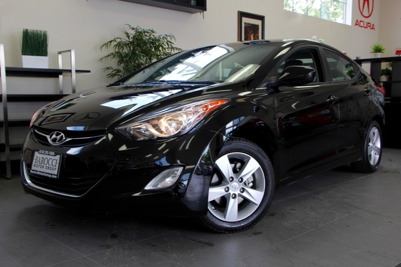 2012 Hyundai Elantra 4dr Sedan 6 Speed Auto Black Black Very Clean Elantra with Bluetooth phone