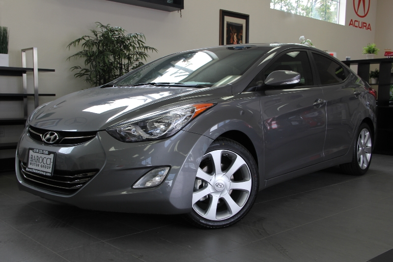 2013 Hyundai Elantra Limited 4dr Sedan 6A 6 Speed Auto Gray Child Safety Door Locks Power Door