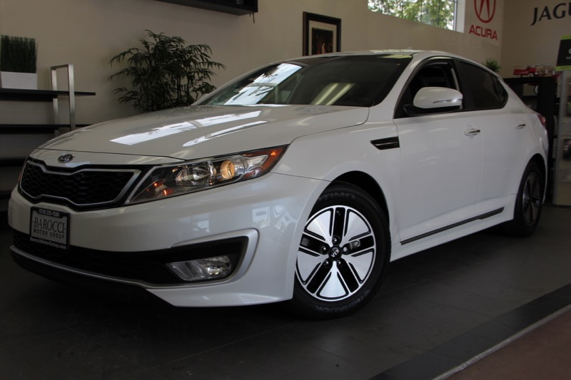 2012 Kia Optima Hybrid Premium 4dr Sedan 6 Speed Auto White Black Beautiful KIA with so many op