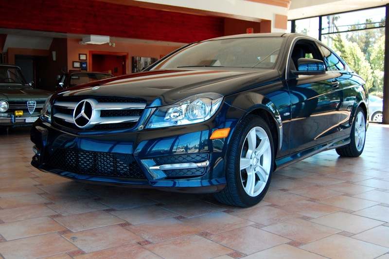 2012 MERCEDES C-Class C250 Coupe 7-Speed Automatic Charcoal Black Join us at AutoLinx Inc Mer