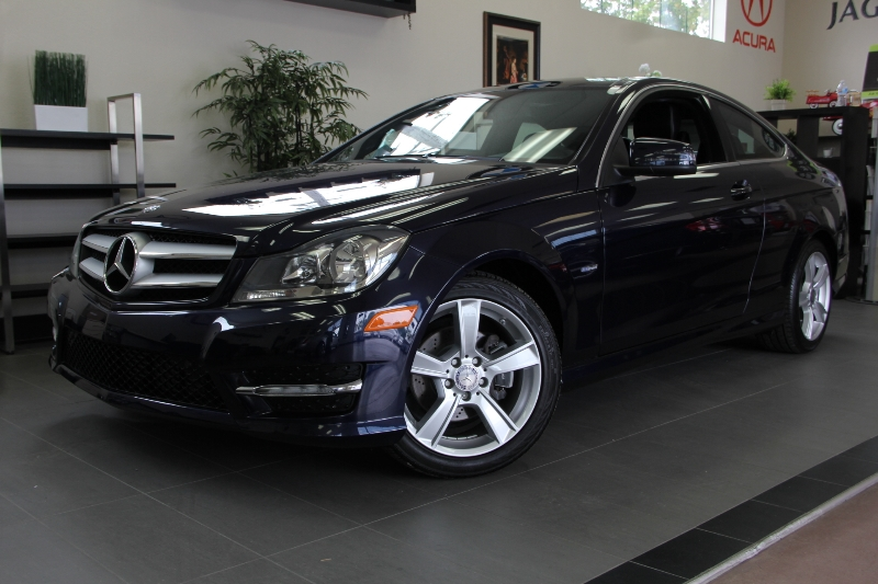 2012 MERCEDES C-Class C250 2dr Coupe 7 Speed Auto Blue Black Still under factory warranty this