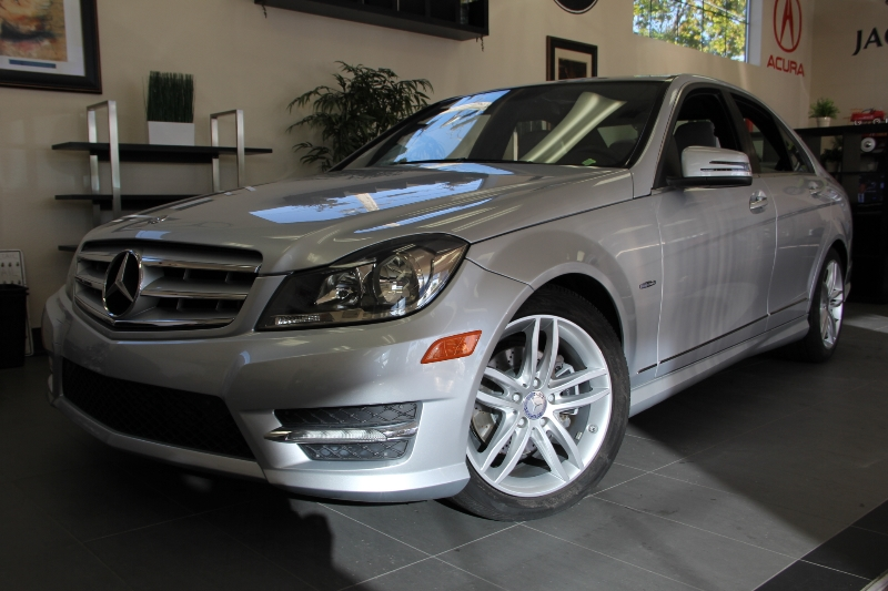 2012 MERCEDES C-Class C250 Sport 7 Speed Auto Silver One owner California vehicle just off of le