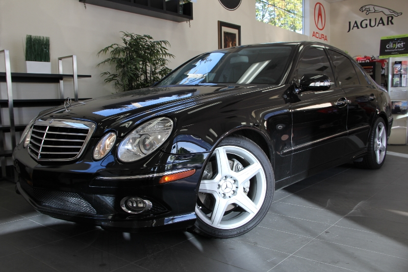 2009 MERCEDES E-Class E350 Sedan 4dr RWD 7 Speed Auto Black Fantastic E Class with Navigation H