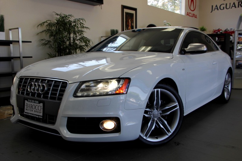 2012 Audi S5 42 quattro Premium AWD  2dr Coupe 6 Speed Auto White Back Up Camera Bang Olufsen