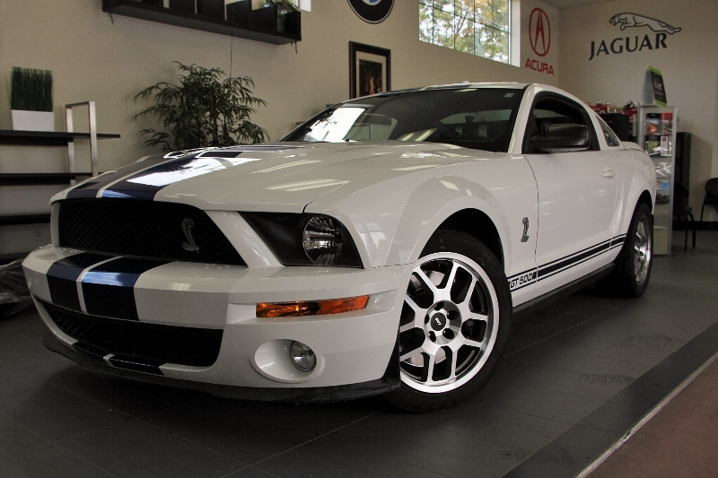 2007 Ford Shelby GT500 2dr Coupe 6 Speed Manual White Black Amazing looking Mustang with the bl