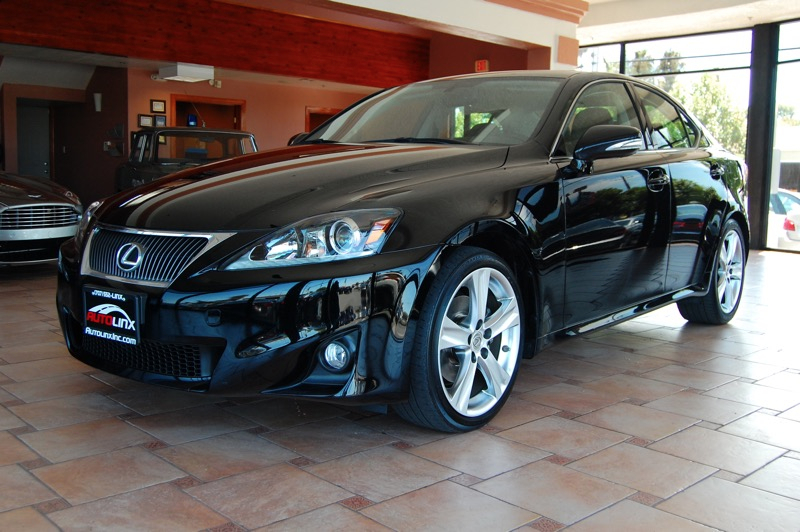 2012 Lexus IS Sedan 6-Speed Automatic Black Black Navigation Accident free Carfax History One