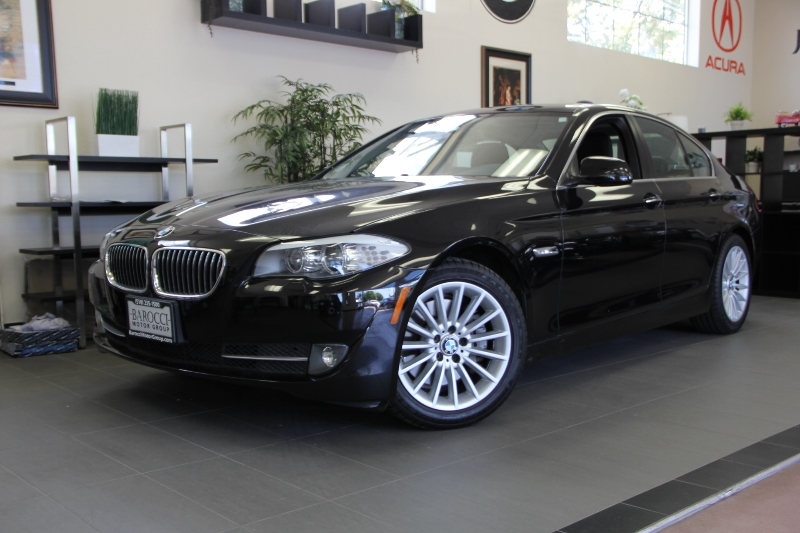 2012 BMW 5 Series 535i 4drNAVIGATION Automatic Black ABS Air Conditioning Alarm Alloy Wheels