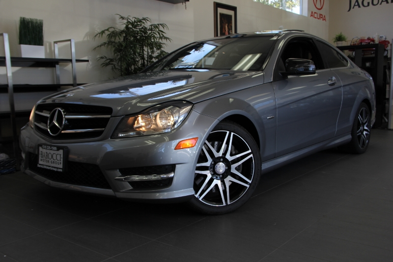 2013 MERCEDES C-Class C250 2dr Coupe Sport 7 Speed Auto Silver Black Features include Bluetooth