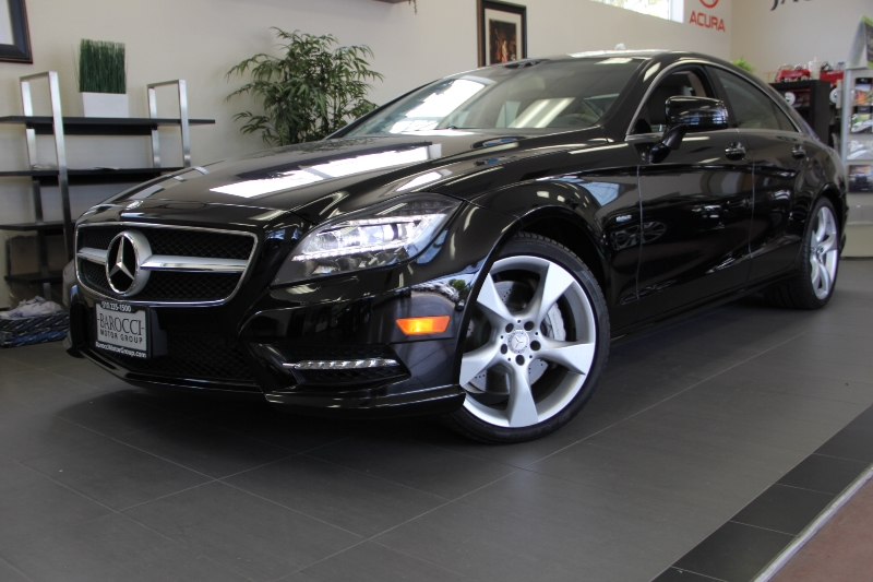 2012 MERCEDES CLS-Class CLS550 4dr Sedan 7 Speed Auto Black 4-wheel Disc Brakes ABS Active Sus