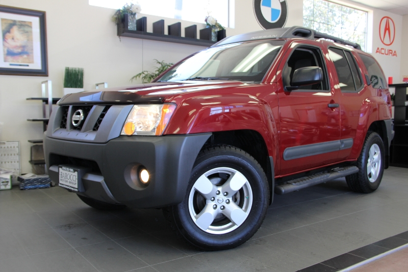 2007 Nissan Xterra X 4dr SUV 4WD Automatic Red Gray Fantastic Xterra with Rockford Fosgate Prem