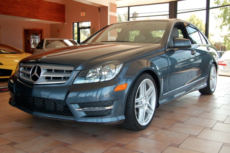 2013 MERCEDES C-Class C250 Sport Sedan 7-Speed Automatic Gray Black Dont let the miles fool you