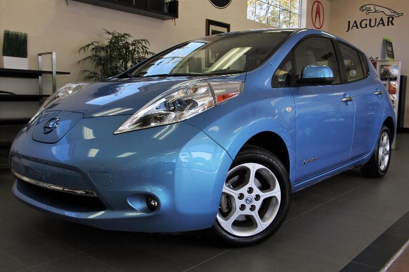 2012 Nissan LEAF SV 4dr Hatchback 1 Speed Auto Blue Child Safety Door Locks Power Door Locks V